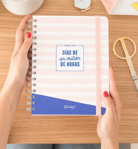 Agenda Clásica Grande 2019  Día por Página