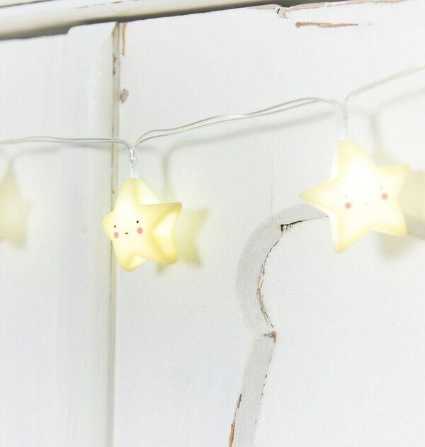 Guirnalda de Luces Estrellas Amarillas