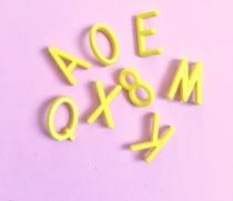 Letras Amarillas para Letter Board