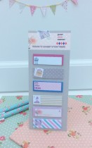 Memo Pad Romantic Shabby Grey