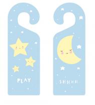 Colgador de puerta Estrellas y Luna