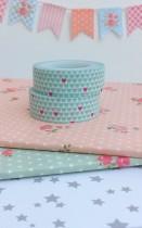Washi Tape Mini Hearts Mint