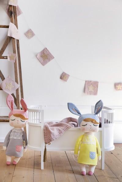 Muñeca Little Bunny Gris 42cm
