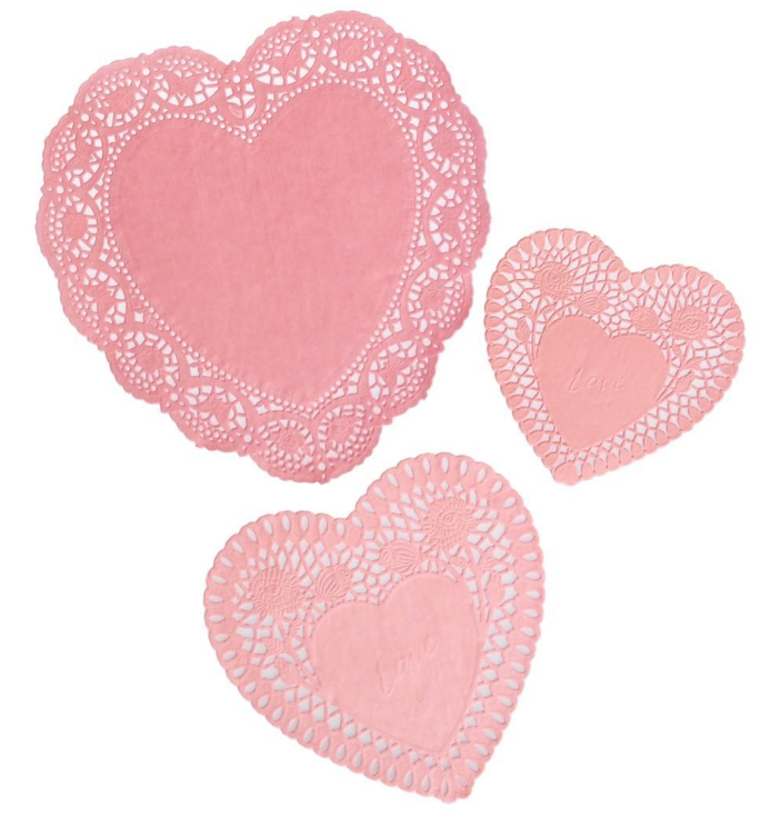 Sweetheart Doilies Pink
