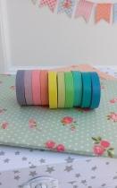 Set Washi Tape Slim Rainbow