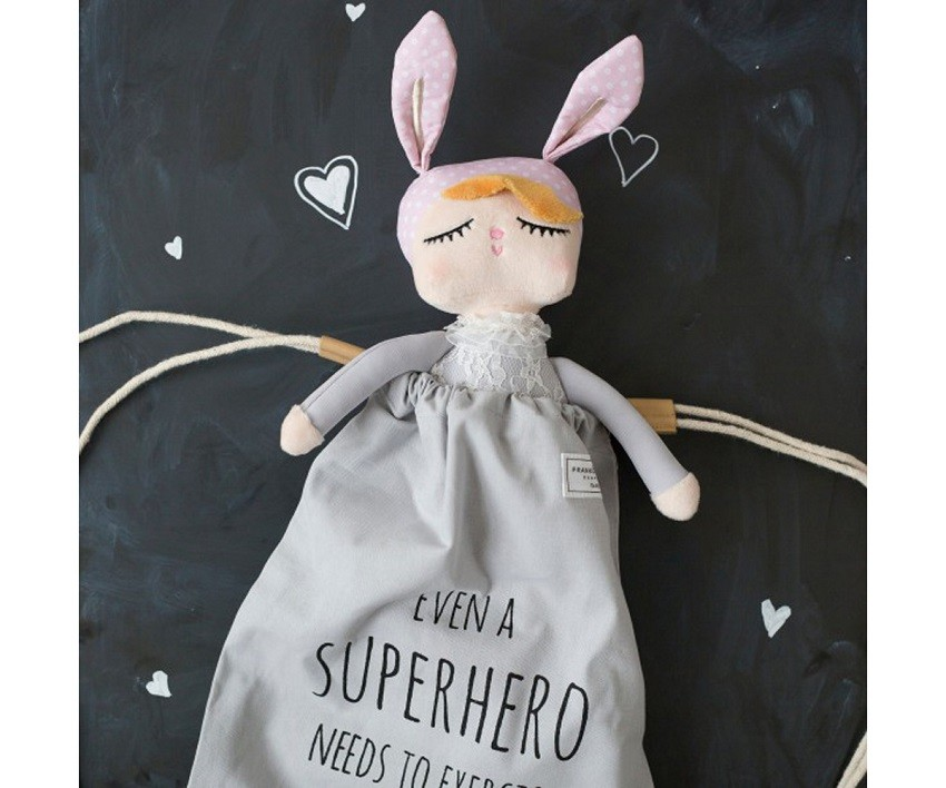 Muñeca Little Bunny Gris 30cm