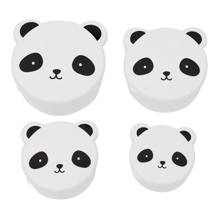 Set de 4 Fiambreras Panda