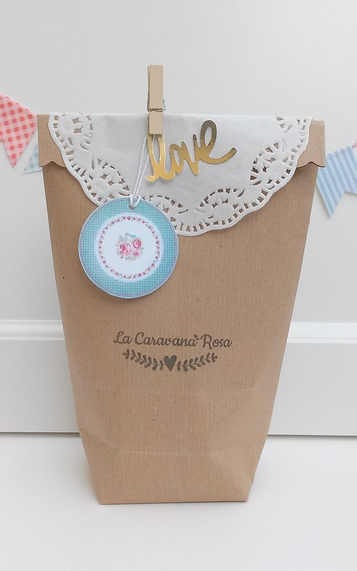 Bolsa de Papel Craft con base