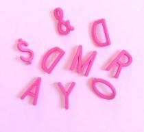 Letras Rosas para Letter Board