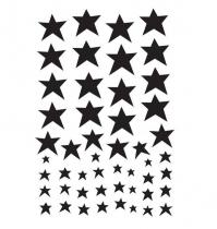 Vinilos decorativos Black Stars