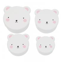 Set de 4 Fiambreras Oso Rosa