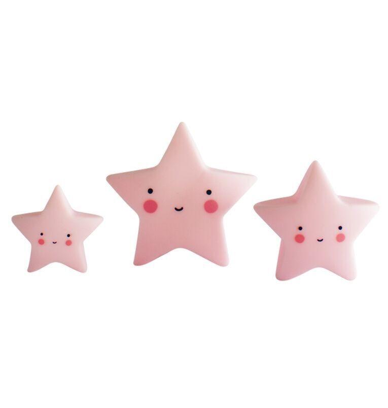 Figuritas Mini Estrellas Rosa