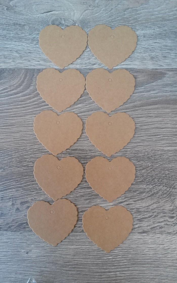 Etiqueta Kraft Corazón