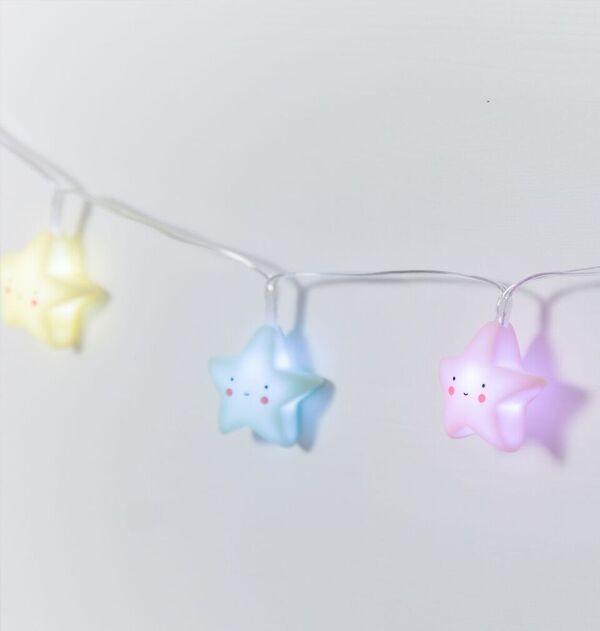 Guirnalda de Luces Estrellas Pastel