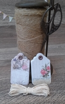 Etiquetas Tag & Rope Flowers