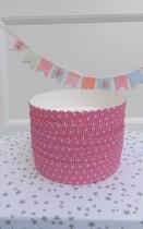 Mini Molde Bizcocho Dots Pink