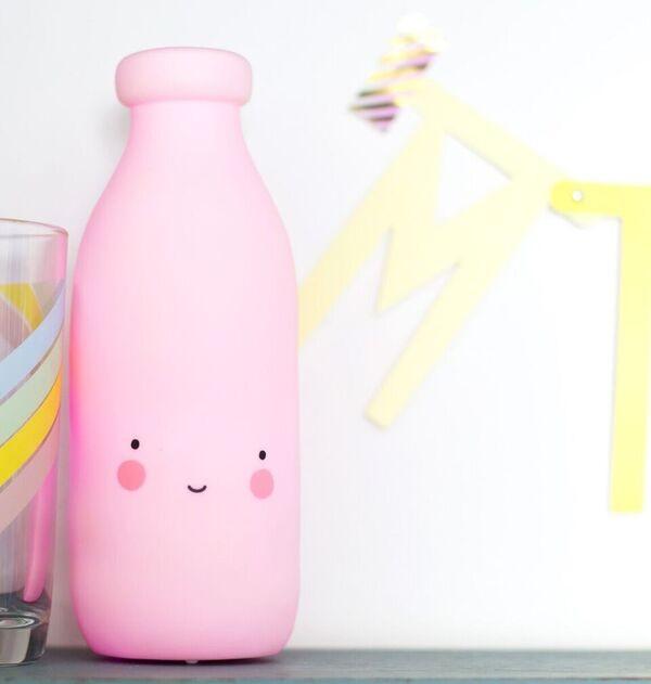 Lámpara Botella de Leche Rosa