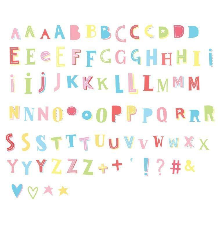 Set de Letras Funky Color