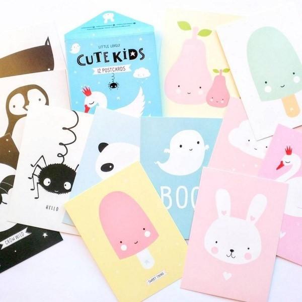 Set de Postales Cute Kids