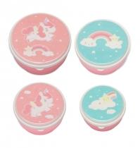 Set de 4 Fiambreras Unicornio