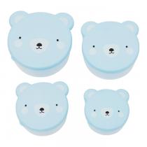 Set de 4 Fiambreras Oso Azul