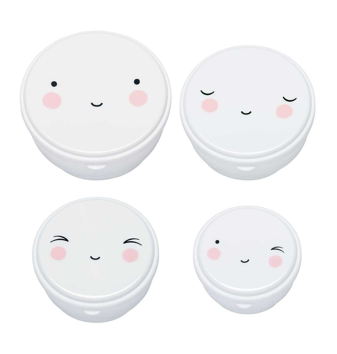 Set de 4 Fiambreras Happy Face