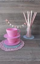 Tazas Silicona Cupcakes Rosa