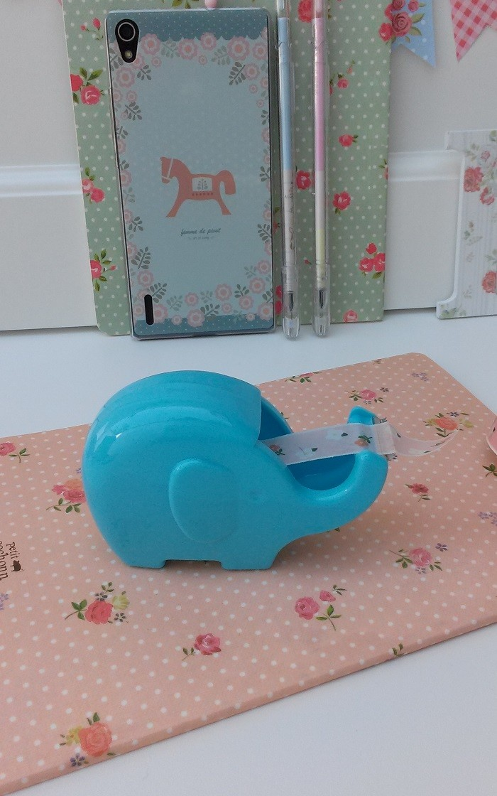 Porta Washi Tape Elephant Blue