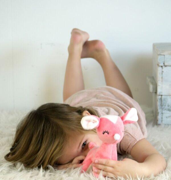 Peluche Ciervo Baby Rosa