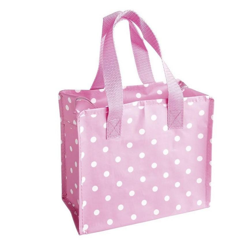 Bolsa de Merienda Pink Polka Dots