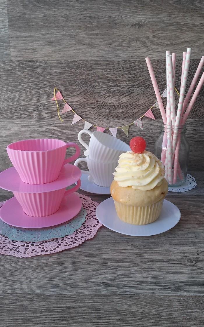 Tazas Silicona Cupcakes Blanco
