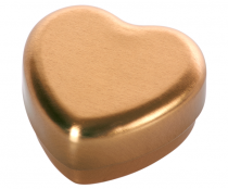 Cajita Corazón Dorada