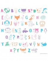 Set de Letras ABC Pastel