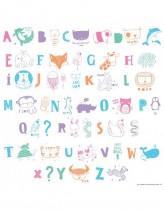 Set de Letras ABC Pastel