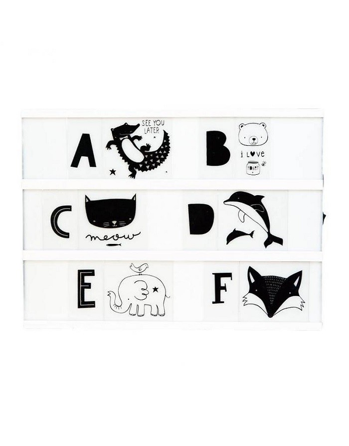 Set de Letras ABC Black