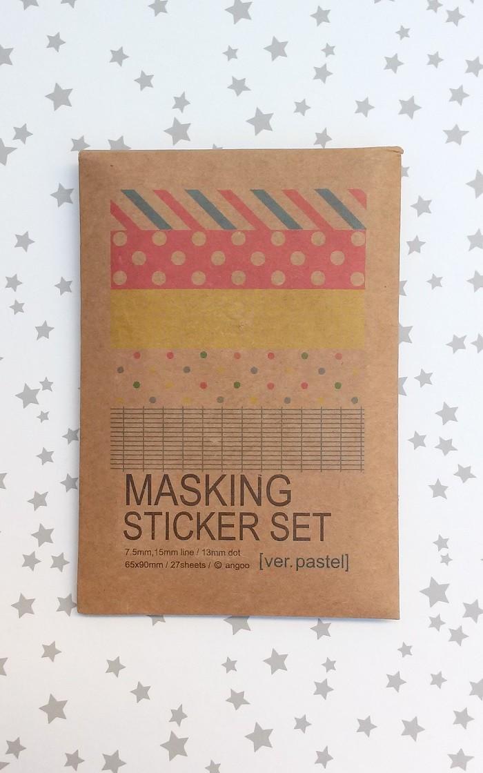 Washi Tape Stickers Pastel
